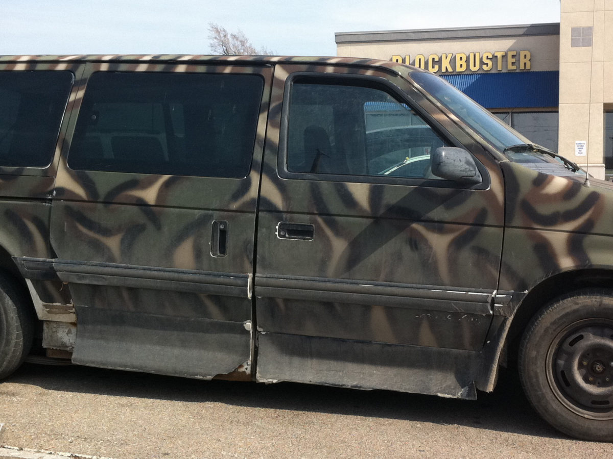 Plymouth Camoflauge Van Fail Car