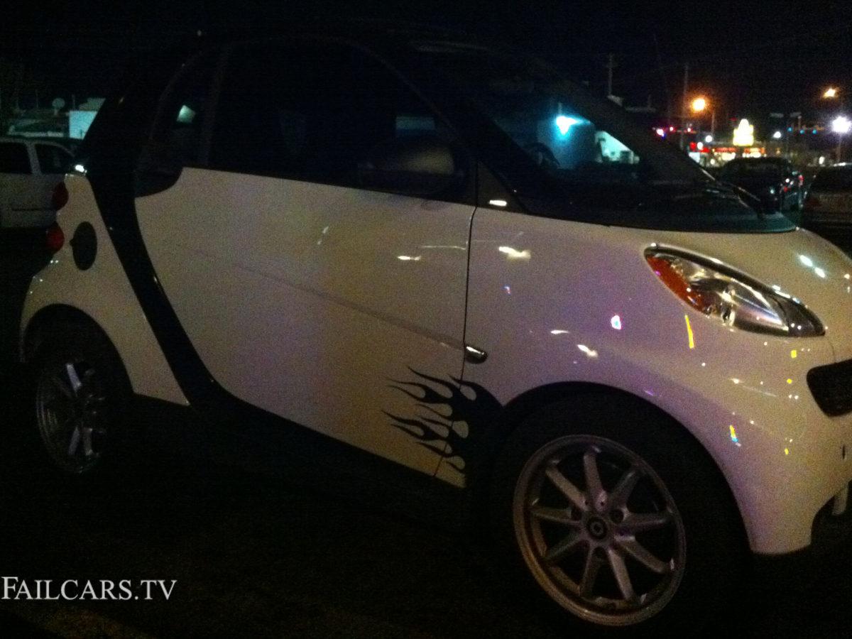Smart Car Flames Fail